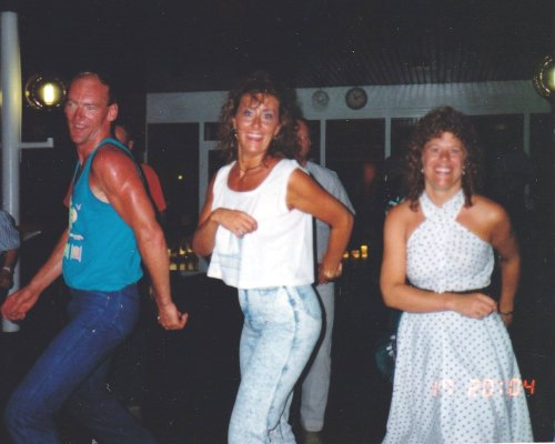 Line Dancin' under the stars on-board SS Norway