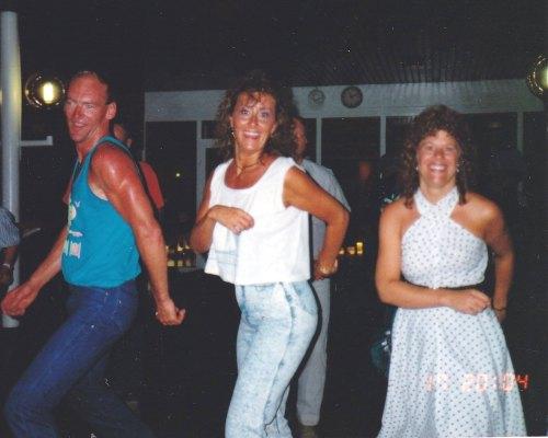 Line Dancin' under the stars on-board SS Norway